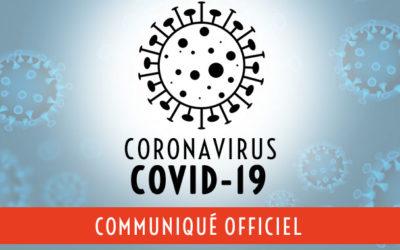 COVID-19 : Communiqué officiel du 19 mars 2020